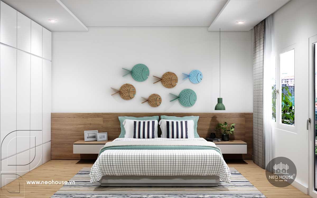 Thiết kế phòng ngủ cho khách nhà phố tân cổ điển 3 tầng