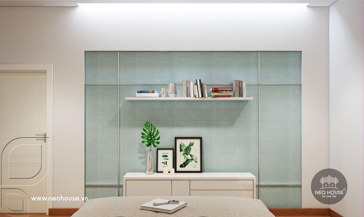 Mẫu thiết kế nội thất phòng ngủ cho mẹ nhà phố tân cổ điển 3 tầng