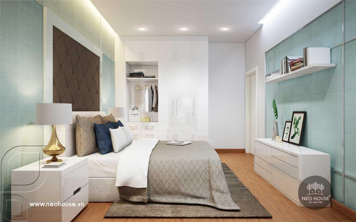 Nội thất phòng ngủ cho mẹ nhà phố tân cổ điển 3 tầng
