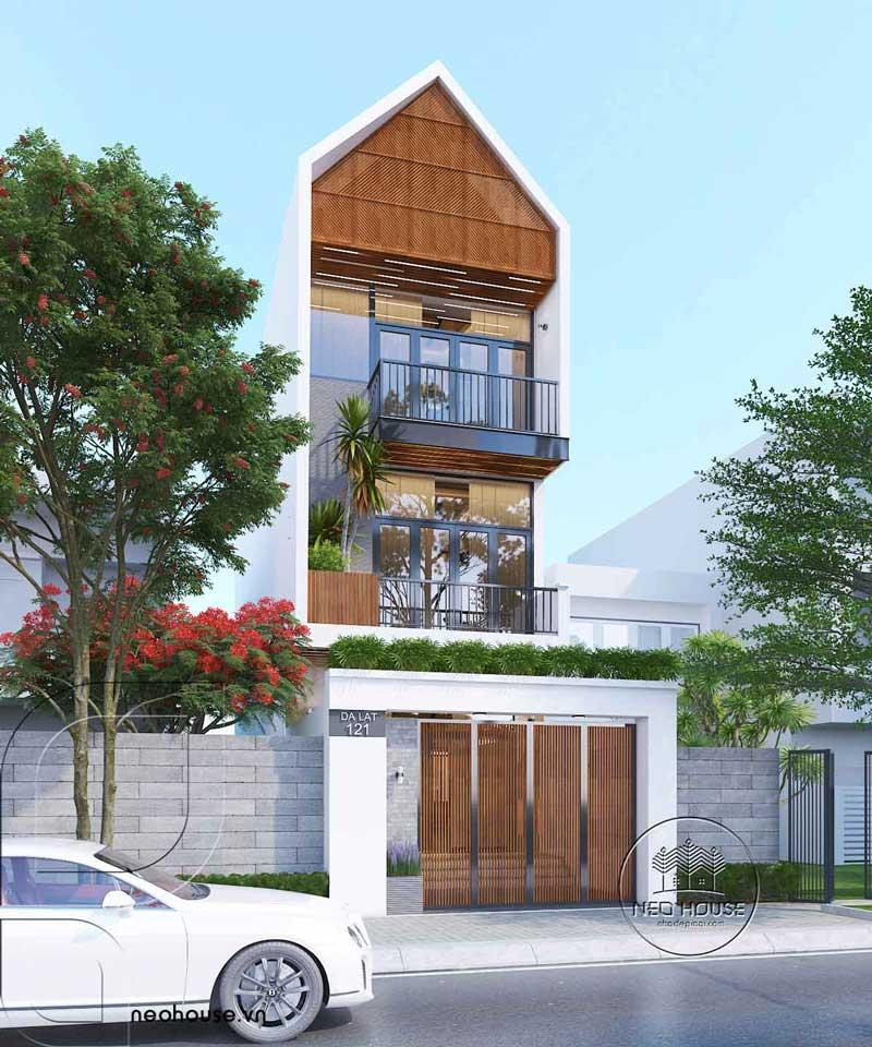 Thiết kế mặt tiền nhà phố mặt tiền 5m 3 tầng