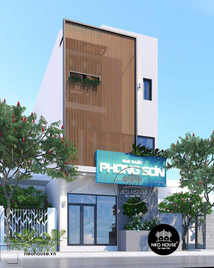 Mẫu thiết kế nhà phố 3 tầng mặt tiền 6m hiện đại