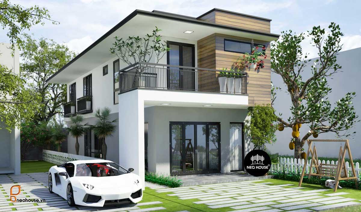 Mẫu Thiết kế nhà phố mặt tiền 5m hiện đại