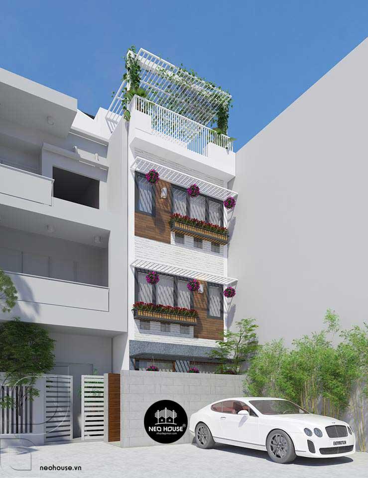 Mẫu thiết kế nhà phố hiện đại 3 tầng đẹp