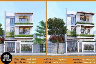 Mẫu Nhà Phố Đẹp 3 Tầng 8x15m Đã Được Thiết Kế Thi Công Tại Tphcm
