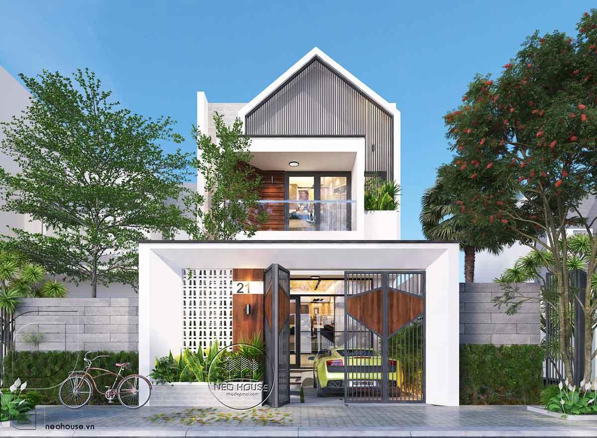Thiết kế nhà phố mặt tiền 5m đẹp