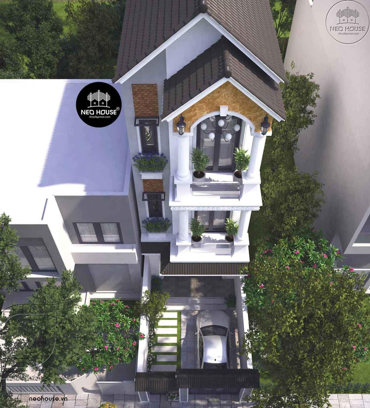 Thiết kế nhà phố tân cổ điển 3 tầng