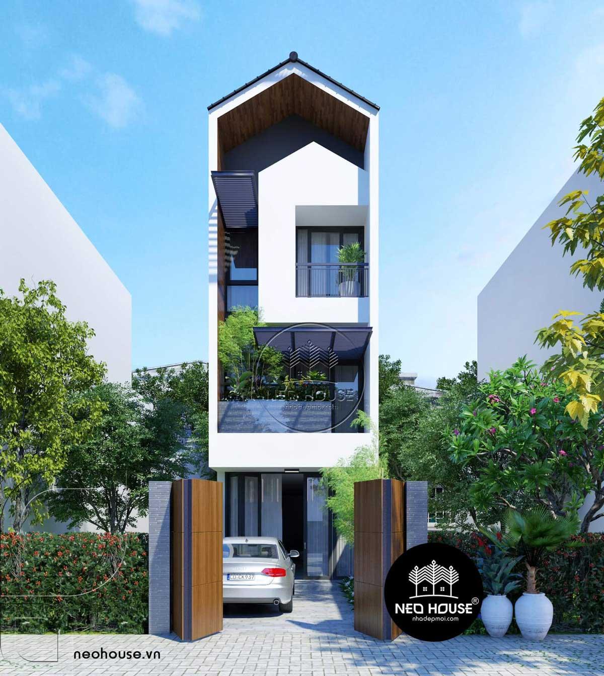 Thiết kế nhà phố đẹp 3 tầng