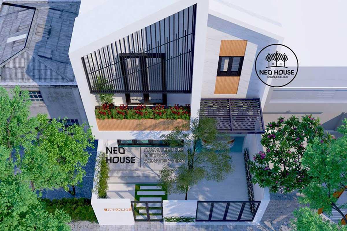 Mẫu thiết kế nhà phố hiện đại đẹp 2 tầng