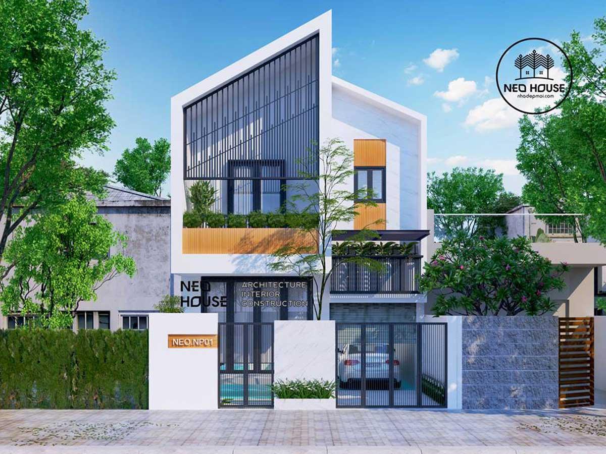 Thiết kế nhà phố hiện đại đẹp 2 tầng