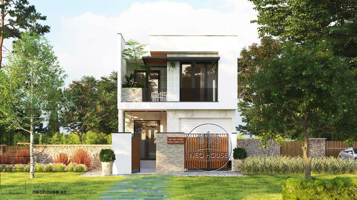 Thiết kế nhà phố mặt tiền 6m hiện đại
