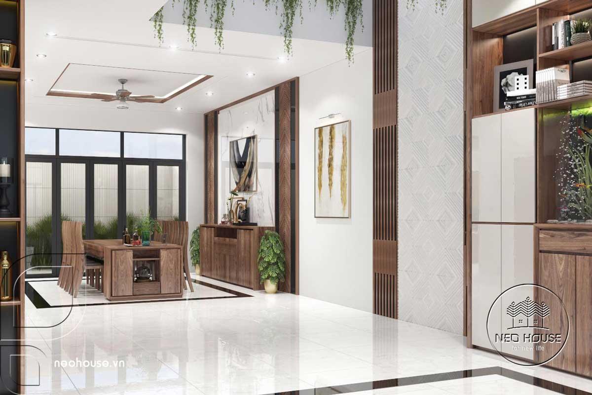 Thiết kế nội thất phòng ăn nhà phố 3 tầng