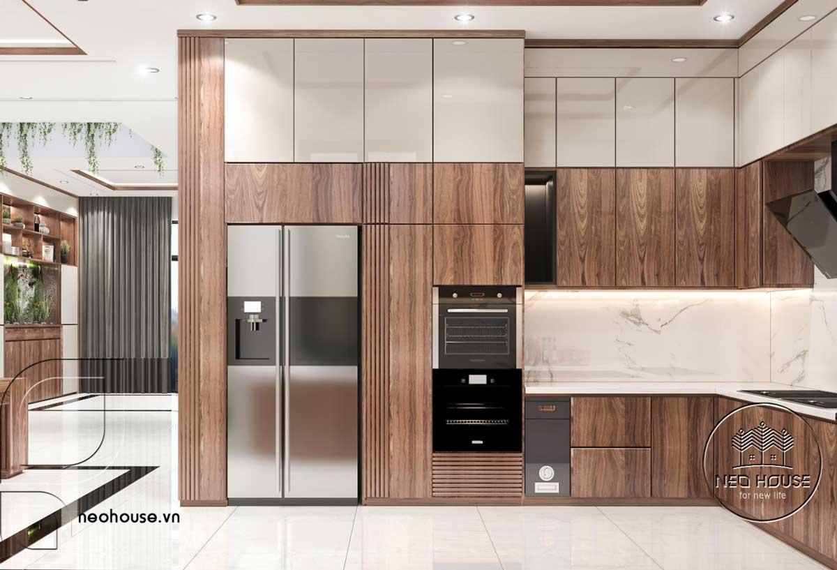 Thiết kế nội thất phòng bếp nhà phố 3 tầng hiện đại