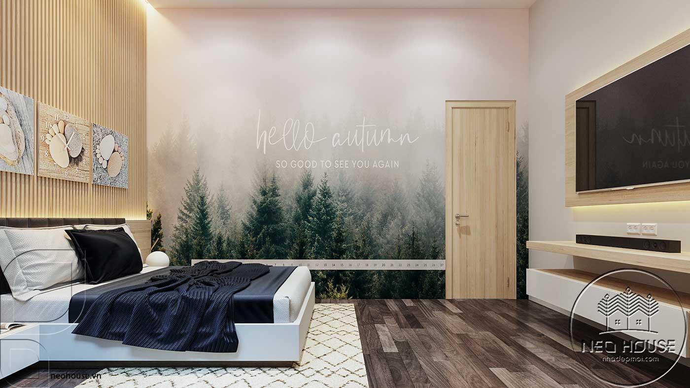 Thiết kế nội thất phòng ngủ 2 nhà phố đẹp 5x20m. Ảnh 2