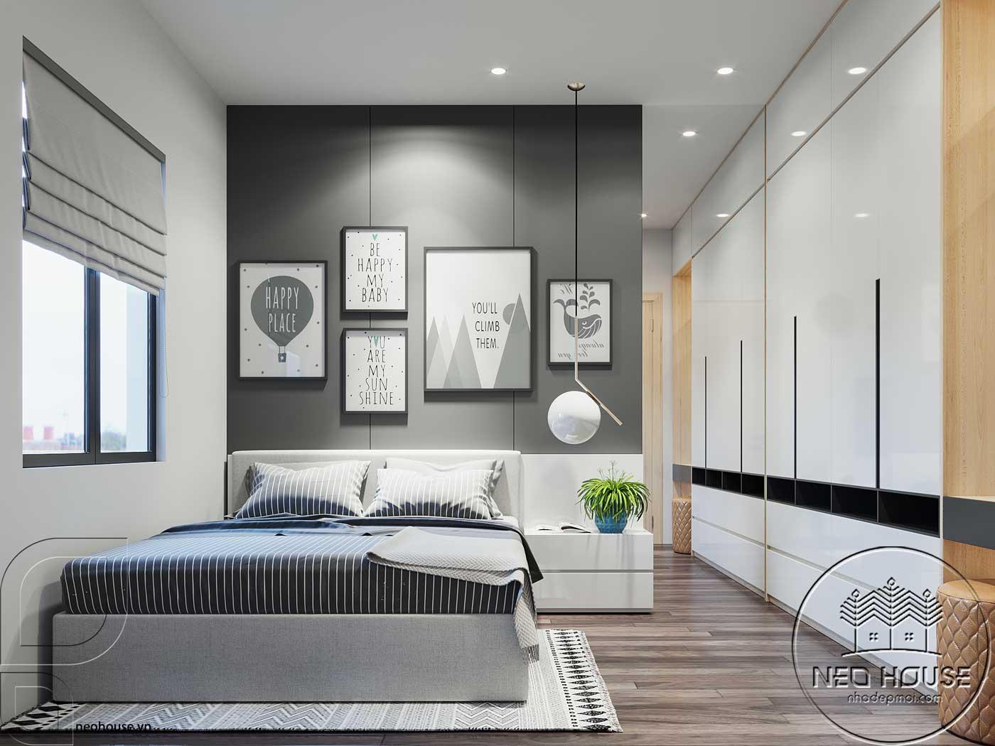 Thiết kế nội thất phòng ngủ 4 nhà phố đẹp 5x20m. Ảnh 1