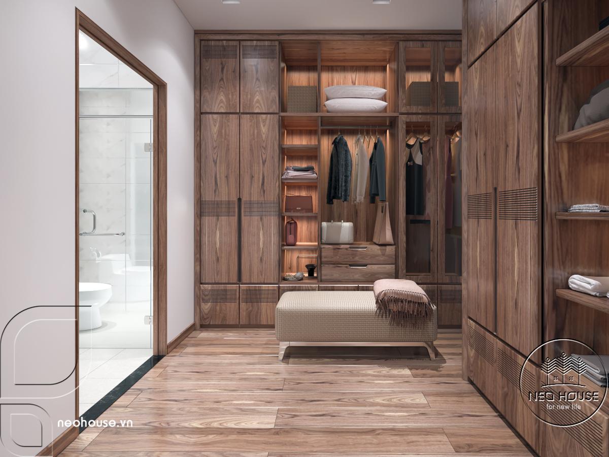 Nội thất phòng ngủ Master nhà phố 3 tầng hiện đại