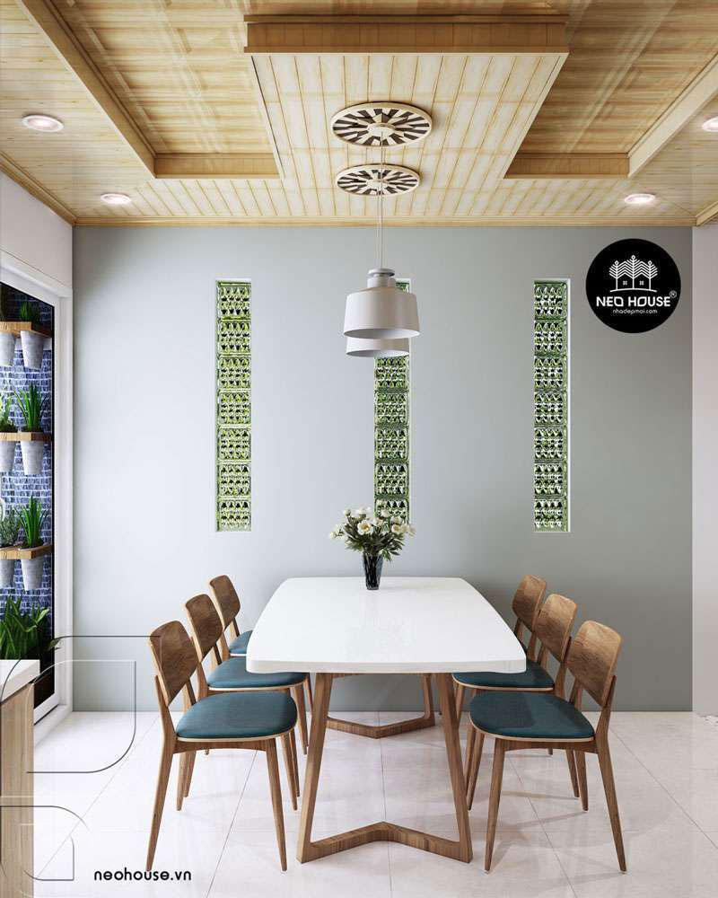 Thiết kế nội thất phòng bếp nhà phố 3 tầng 1 tum hiện đại. Ảnh 3