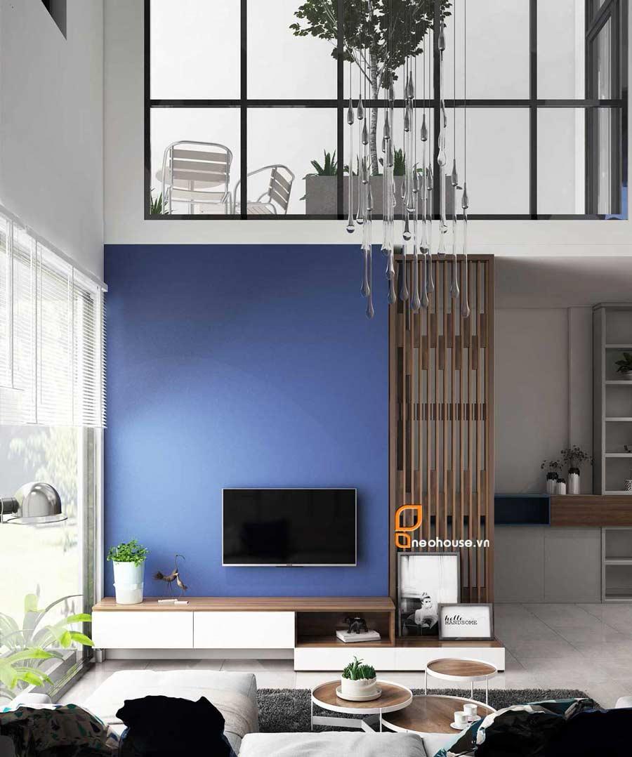 Thiết kế nội thất phòng khách nhà phố 8x14m. Ảnh 3