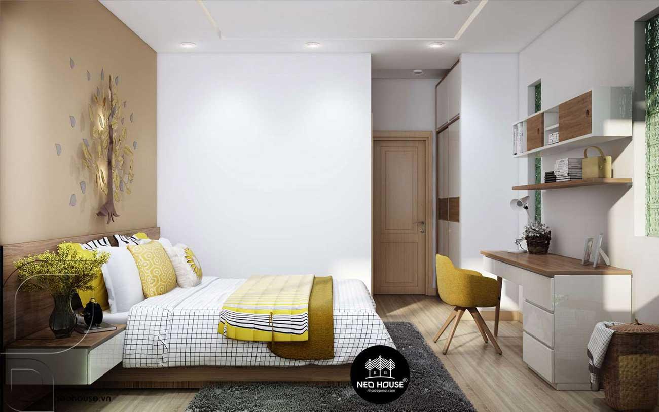 Thiết kế nội thất phòng ngủ Master nhà phố 3 tầng 1 tum hiện đại. Ảnh 2