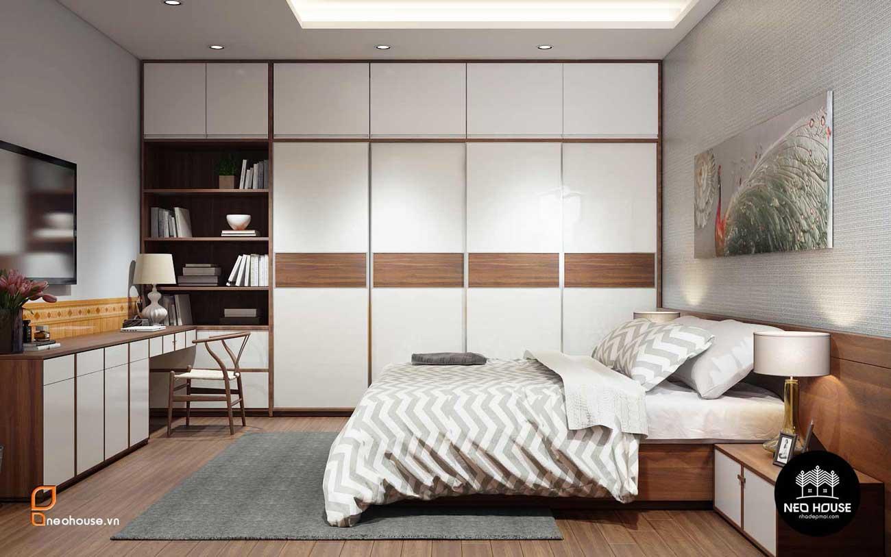 Thiết kế nội thất phòng ngủ Master nhà phố 8x14m. Ảnh 2