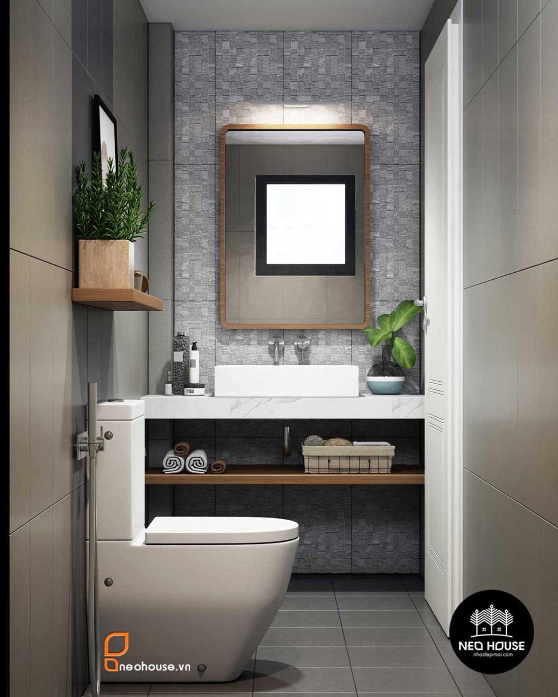 Thiết kế nội thất phòng vệ sinh nhà phố 8x14m. Ảnh 1