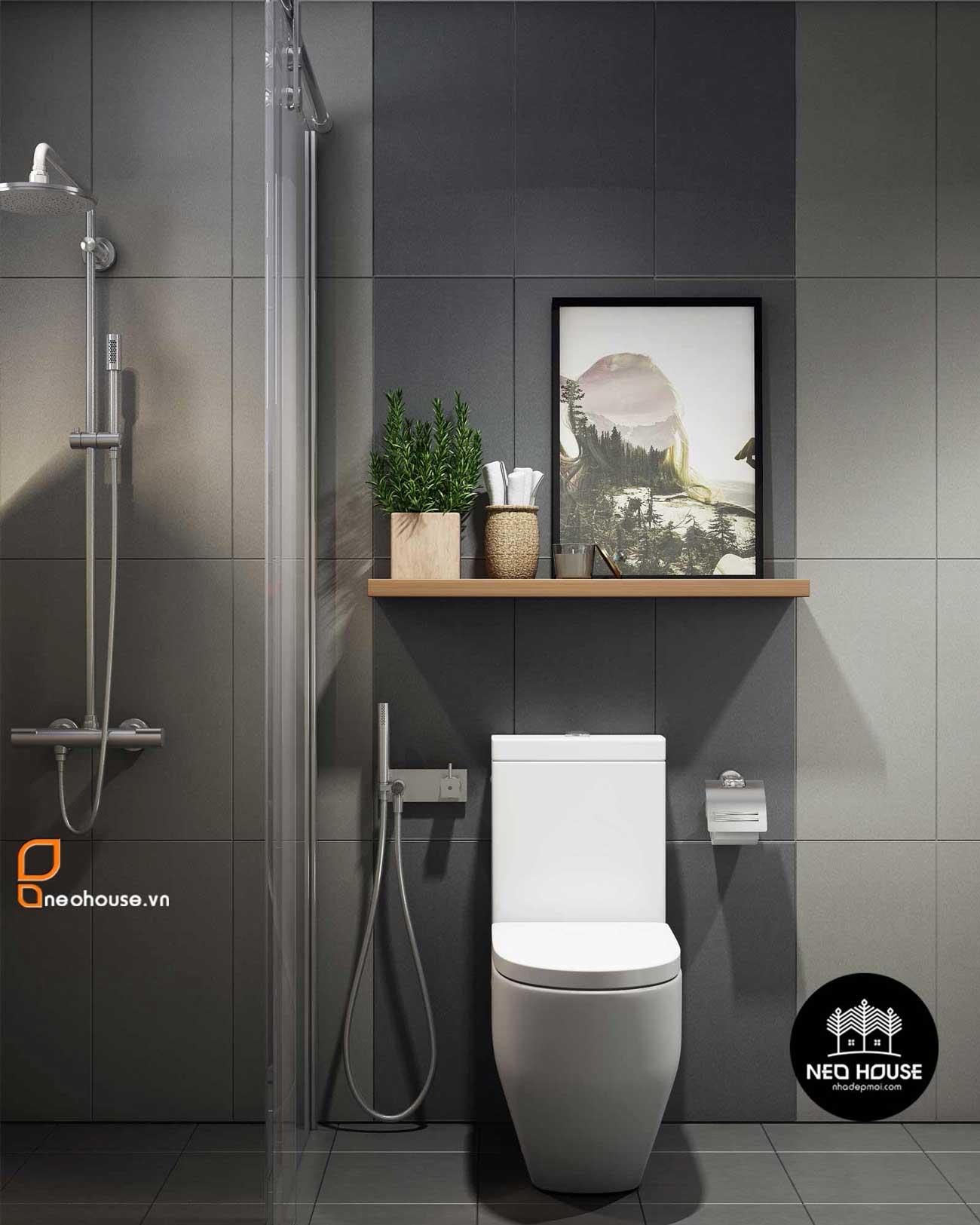 Thiết kế nội thất phòng vệ sinh nhà phố 8x14m. Ảnh 2