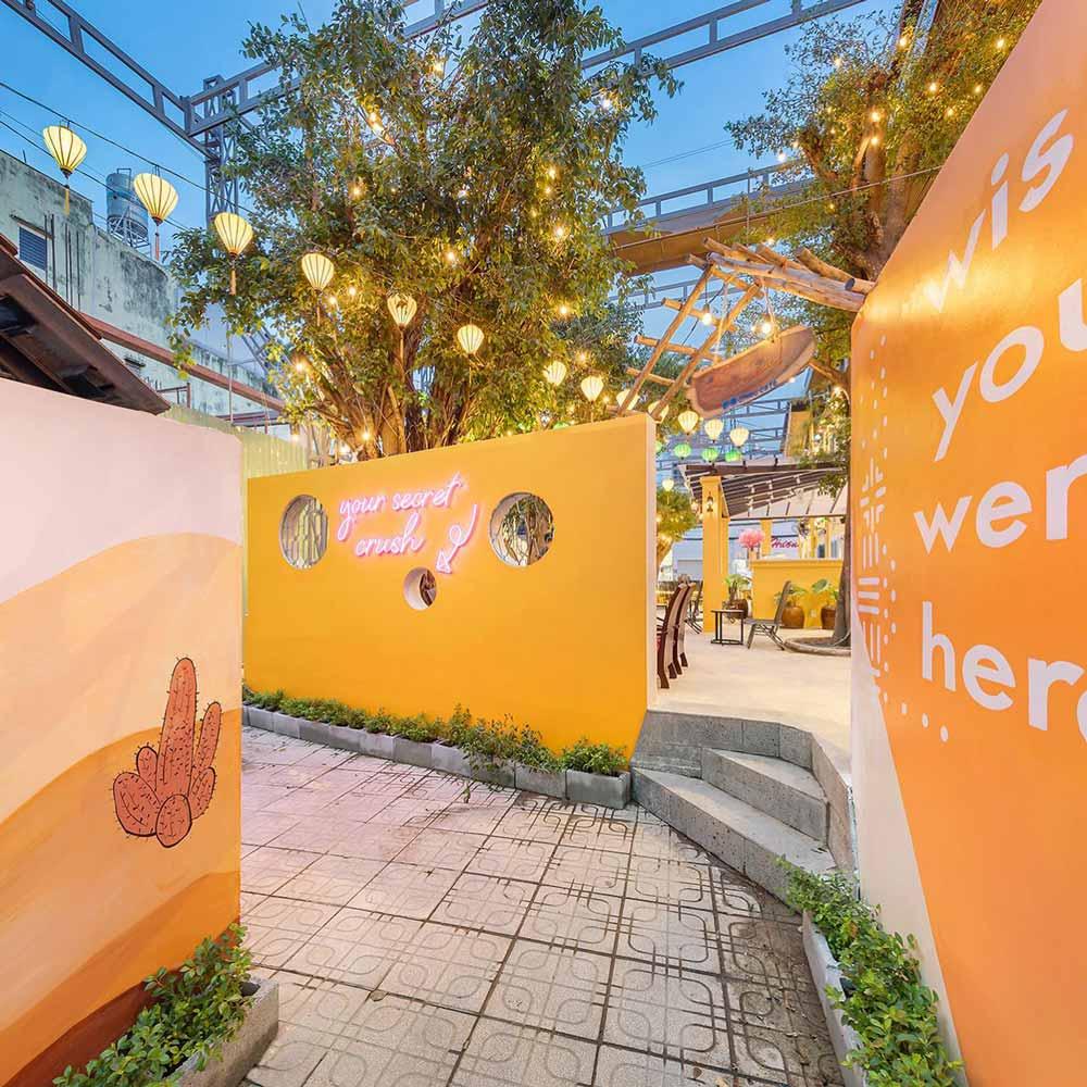 Hình ảnh thực tế thi công quán cafe sân vườn. Ảnh 6