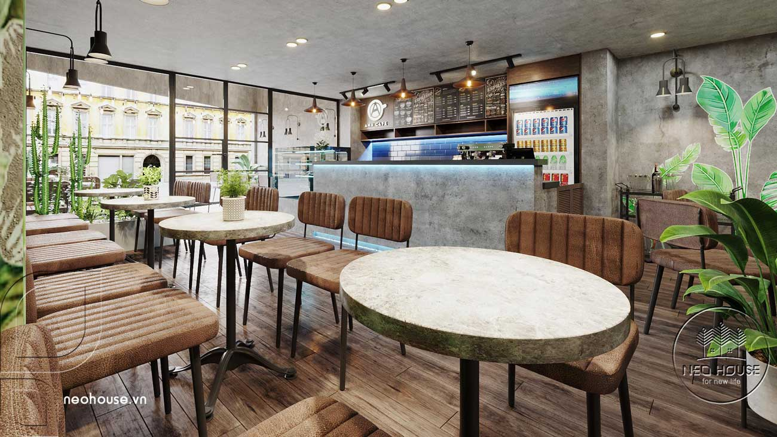 Thiết kế thi công cải tạo nội thất quán cafe. Ảnh 2