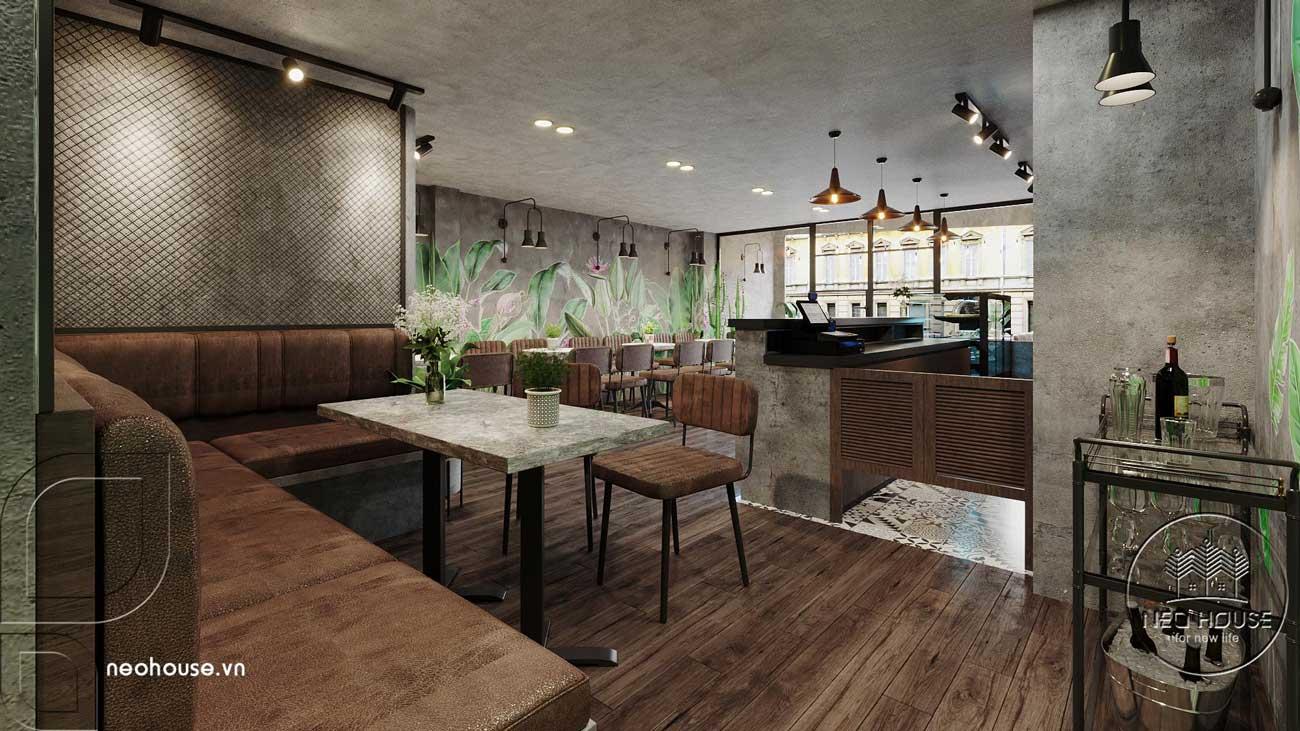 Thiết kế thi công cải tạo nội thất quán cafe. Ảnh 5