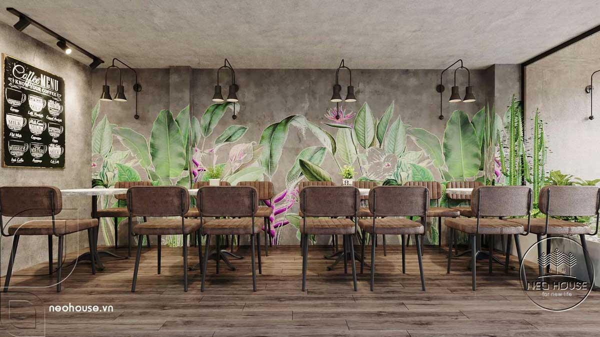 Thiết kế thi công cải tạo nội thất quán cafe. Ảnh 4