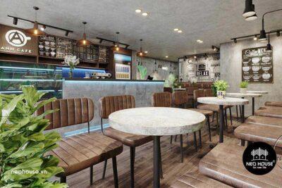 Thiết Kế Thi Công Cải Tạo Quán Cafe Trọn Gói 6x10m Tại HCM – NT31