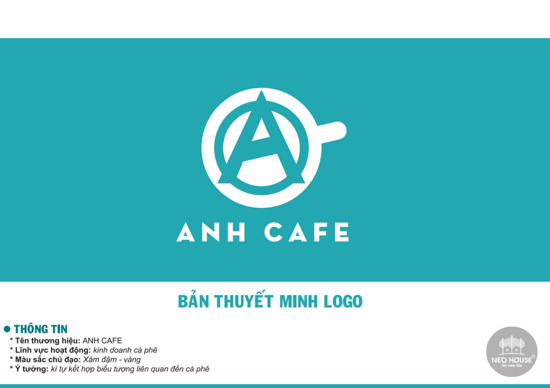 Thiết kế logo quán cafe ANH CAFE. Ảnh 1