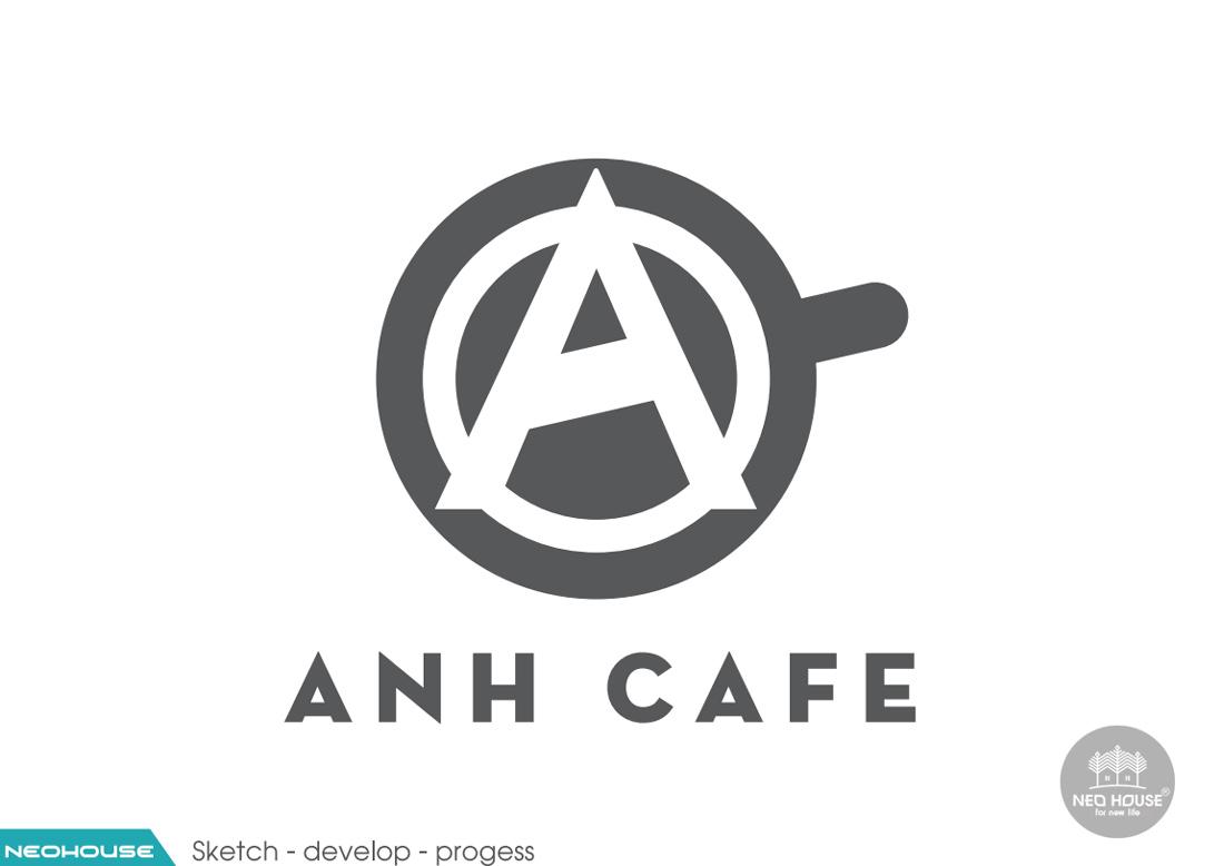 Thiết kế logo quán cafe ANH CAFE. Ảnh 4