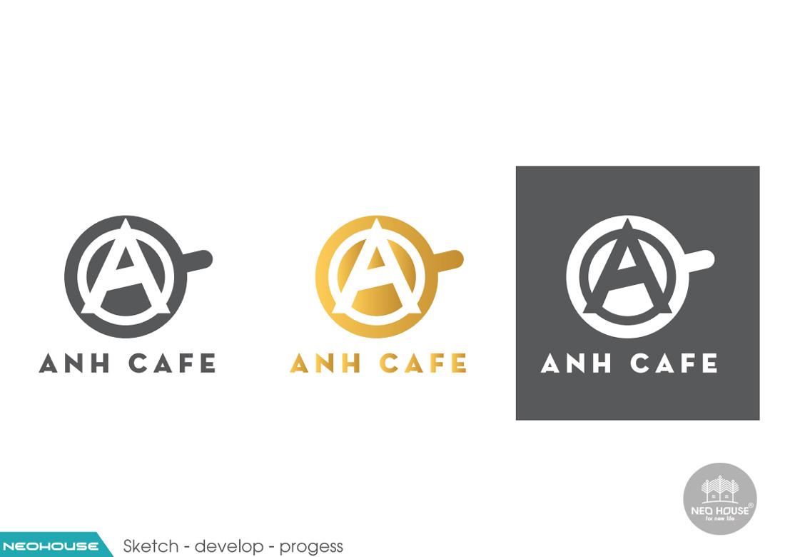 Thiết kế logo quán cafe ANH CAFE. Ảnh 5