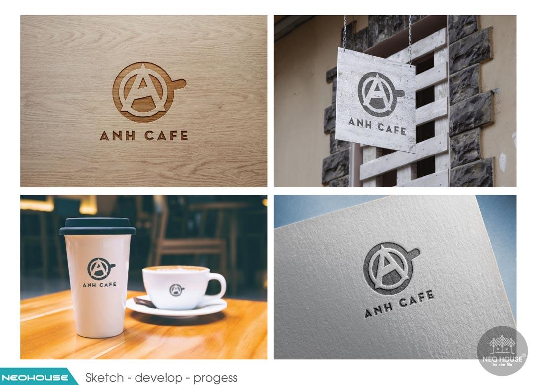 Thiết kế logo quán cafe ANH CAFE. Ảnh 6