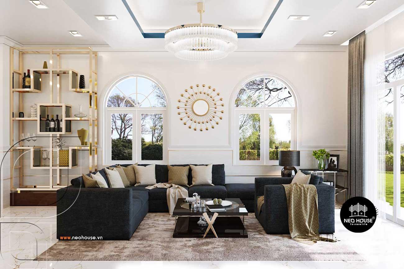 Thiết kế nội thất biệt thự vườn 1 tầng hiện đại. Ảnh 1