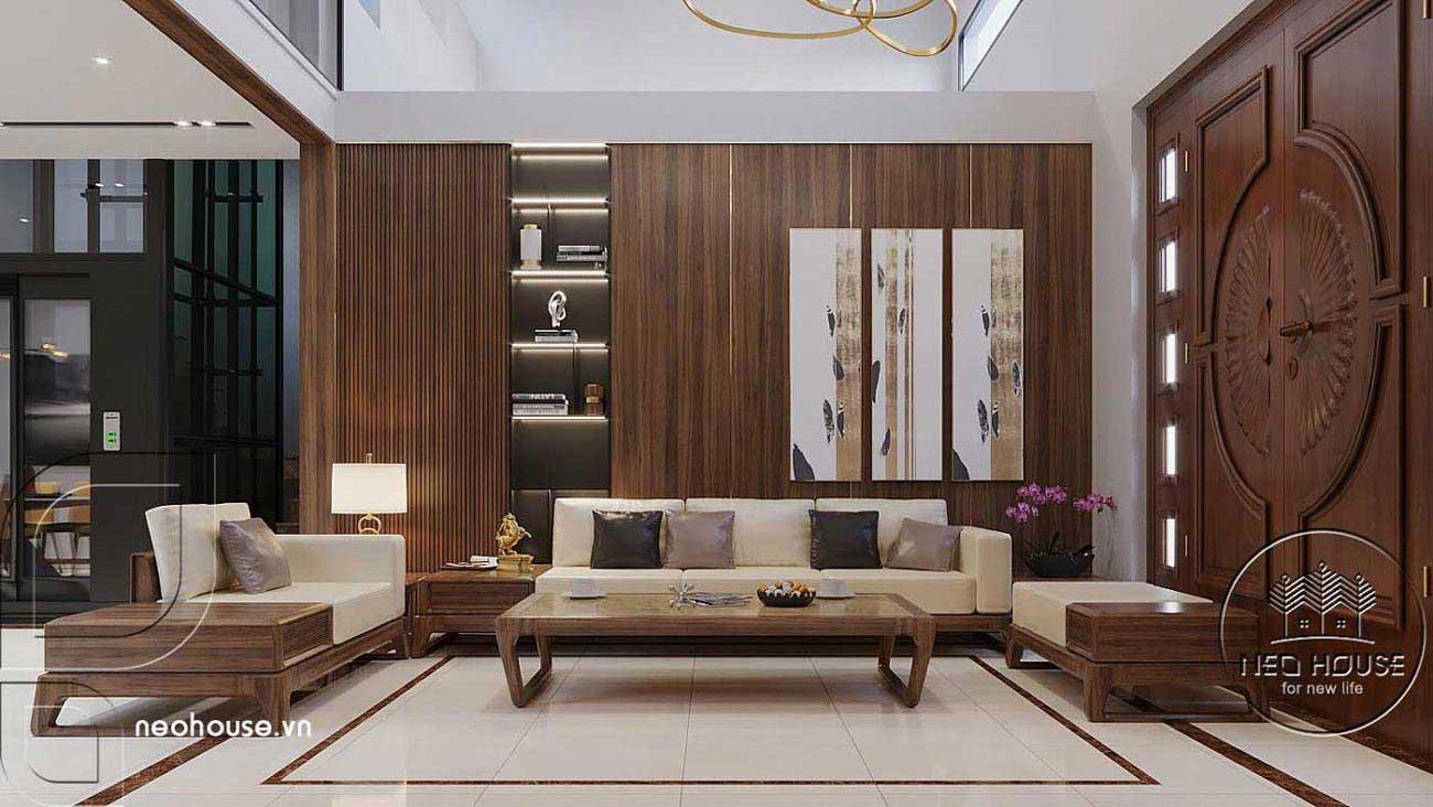 Mẫu thiết kế nội thất biệt thự hiện đại. Ảnh 1