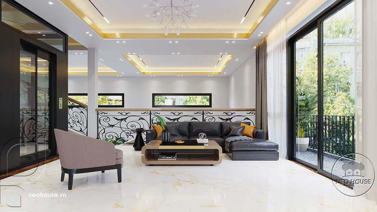 Mẫu thiết kế nội thất biệt thự hiện đại. Ảnh 12