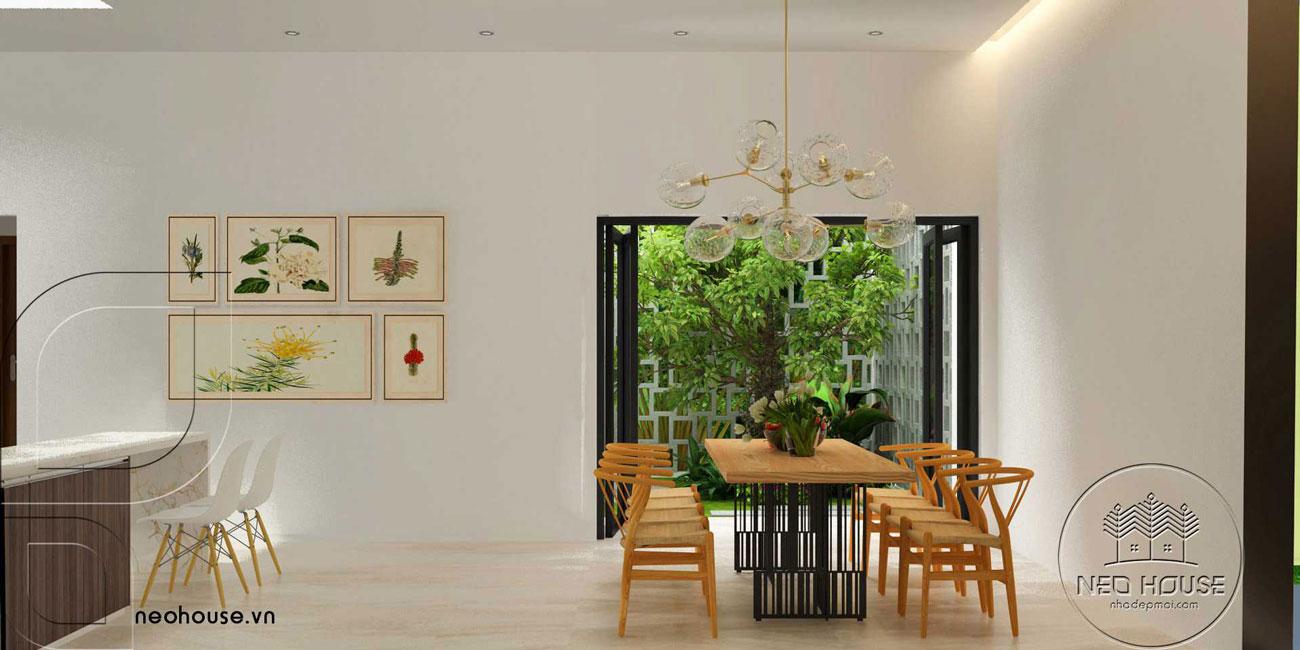 Mẫu thiết kế nội thất biệt thự hiện đại 1 tầng. Ảnh 2