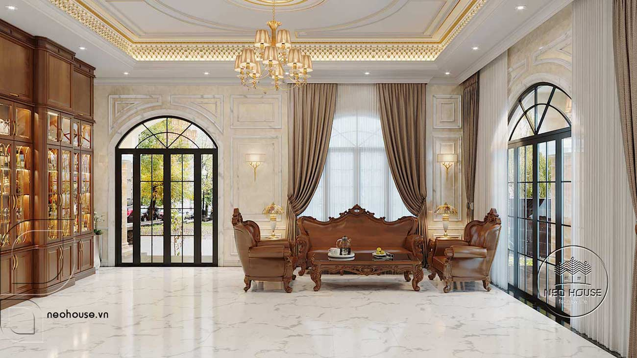 Thiết kế nội thất biệt thự tân cổ điển đẹp. Ảnh 2
