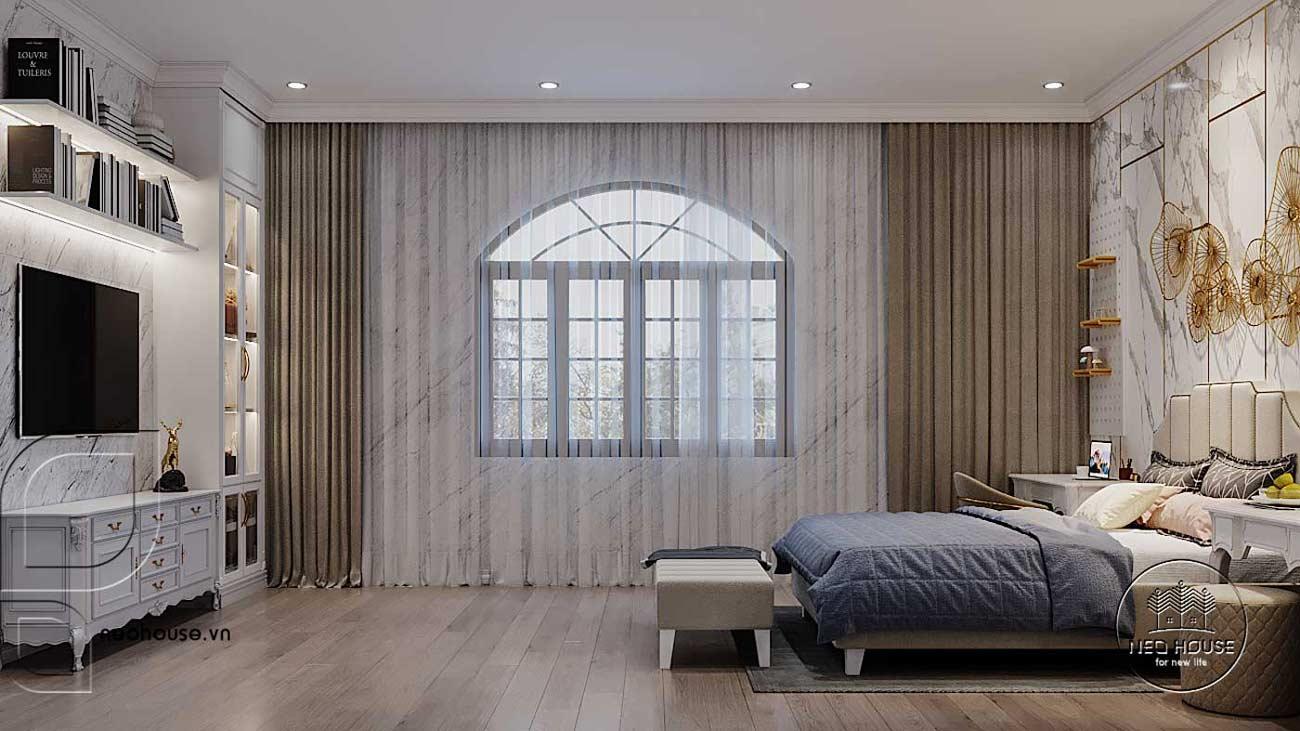 Thiết kế nội thất biệt thự tân cổ điển đẹp. Ảnh 9