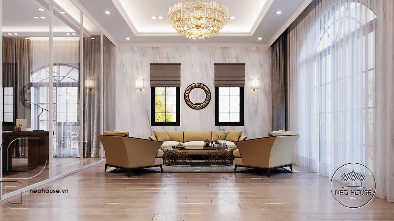 Thiết kế nội thất biệt thự tân cổ điển đẹp. Ảnh 11