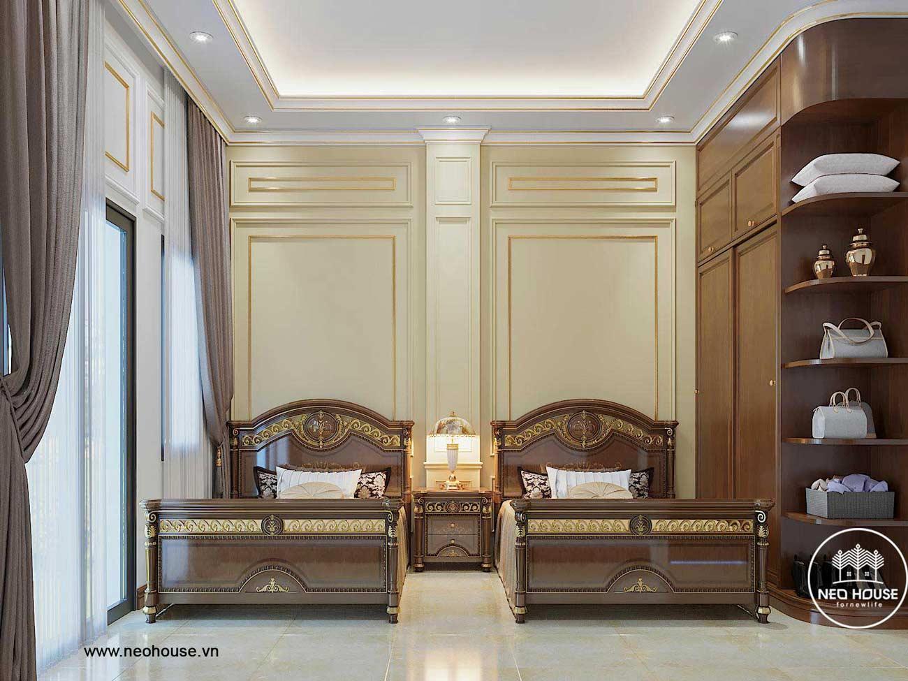 Thiết kế nội thất biệt thự 3 tầng tân cổ điển. Ảnh 8