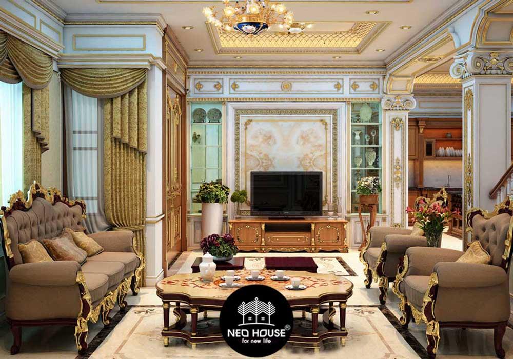 Mẫu thiết kế nội thất biệt thự cổ điển. Ảnh 1