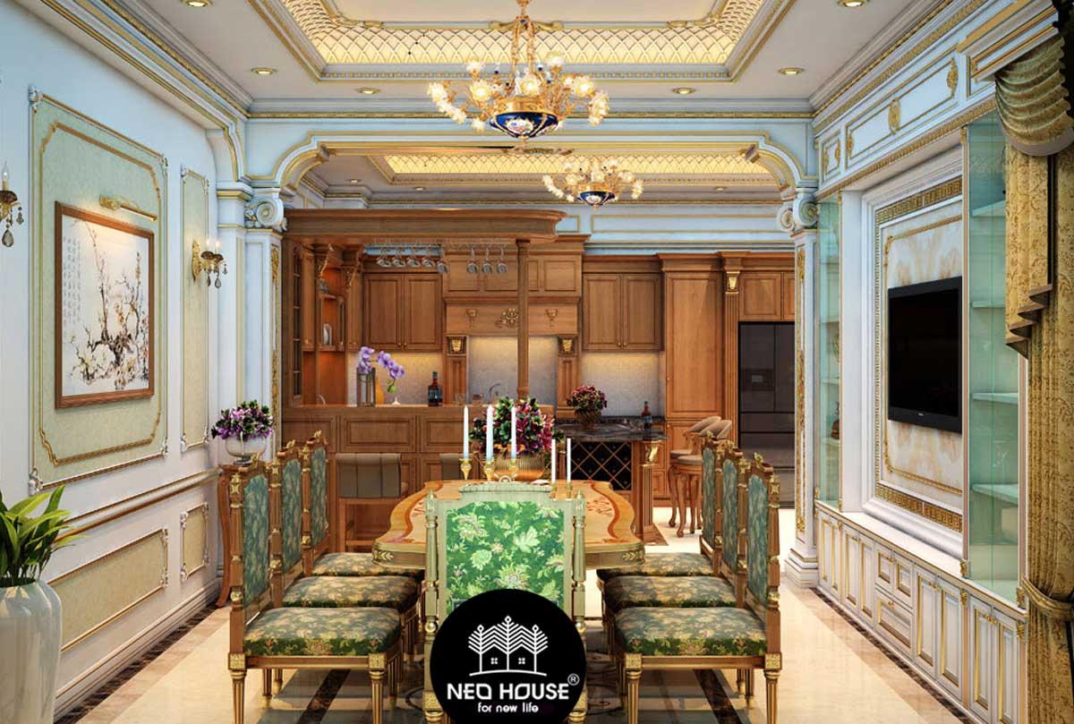 Mẫu thiết kế nội thất biệt thự cổ điển. Ảnh 3