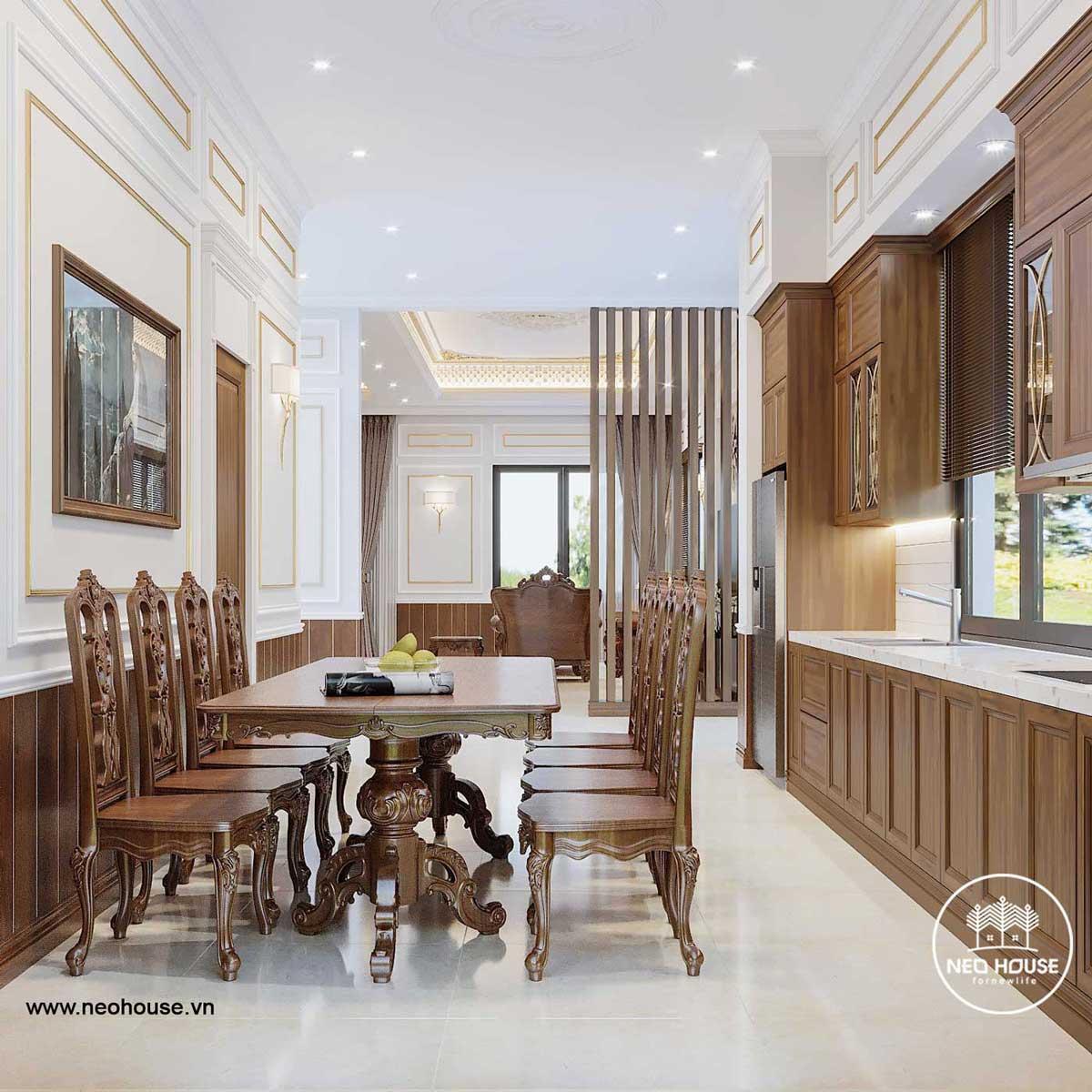 Thiết kế nội thất biệt thự 3 tầng tân cổ điển. Ảnh 3