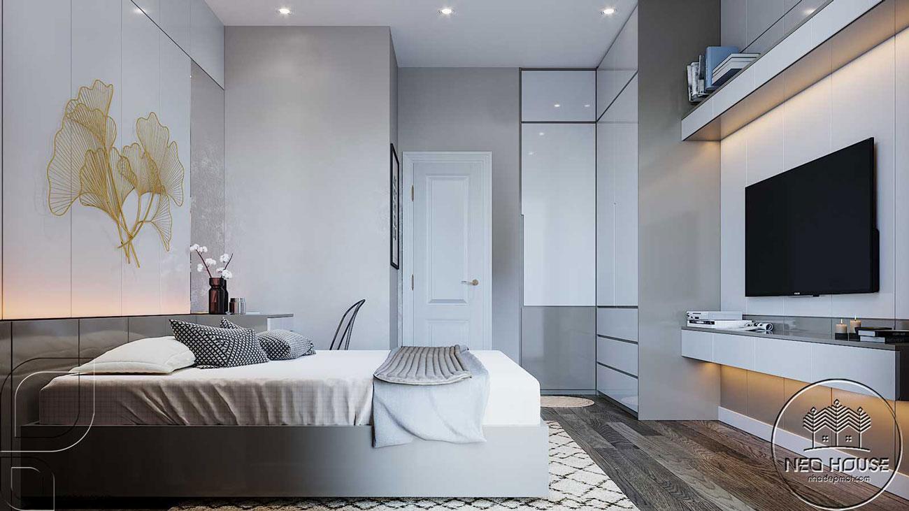 Thiết kế nội thất phòng ngủ hiện đại. Ảnh 2