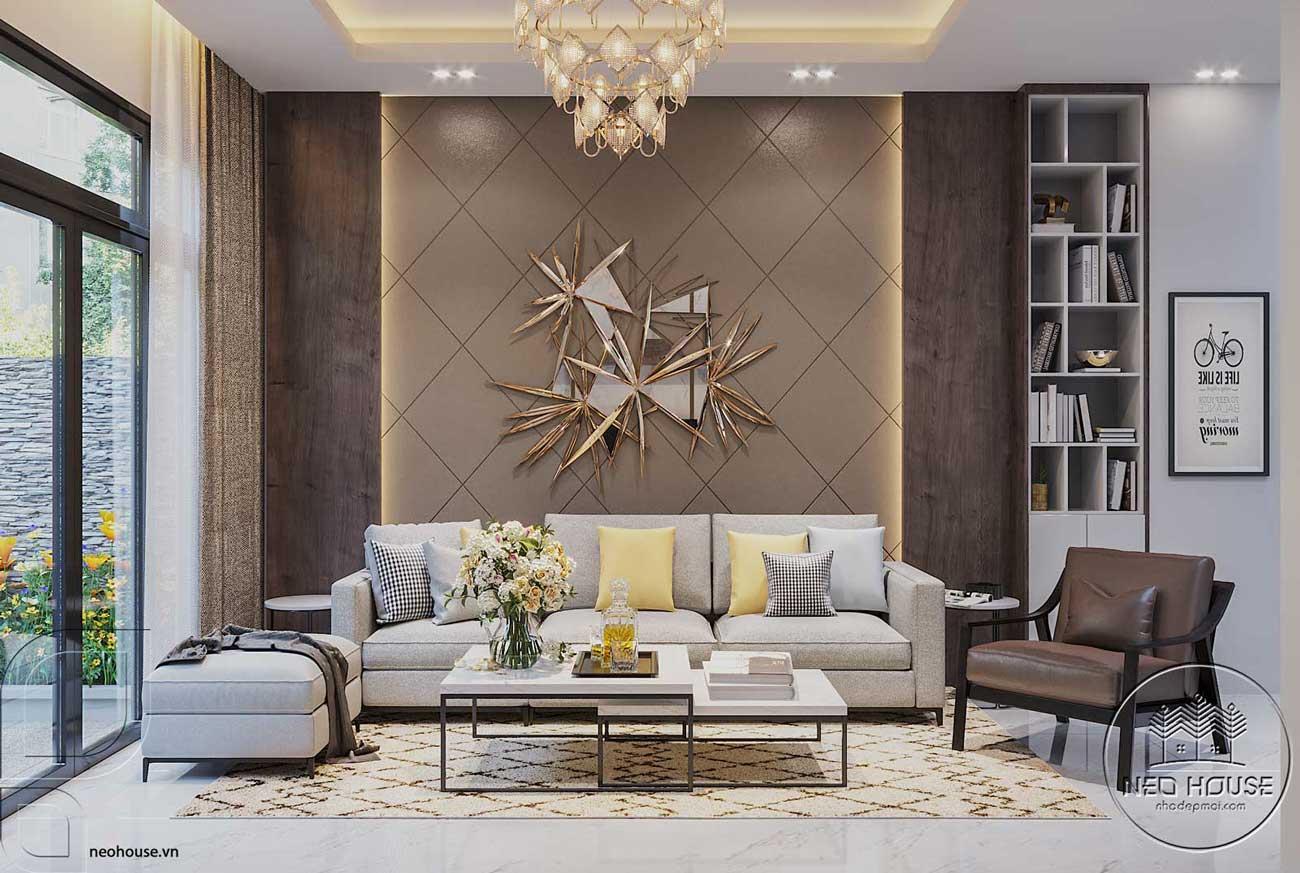 Thiết kế nội thất phòng khách hiện đại. Ảnh 1