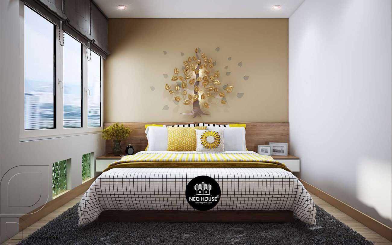 Thiết kế nội thất phòng ngủ Master nhà phố 3 tầng 1 tum hiện đại. Ảnh 1