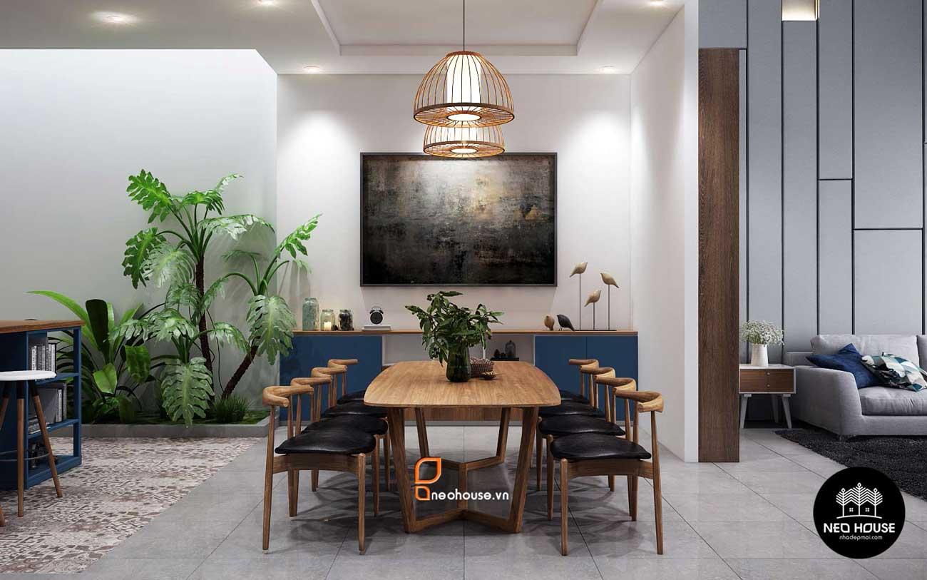 Thiết kế nội thất phòng ăn nhà phố 8x14m. Ảnh 1