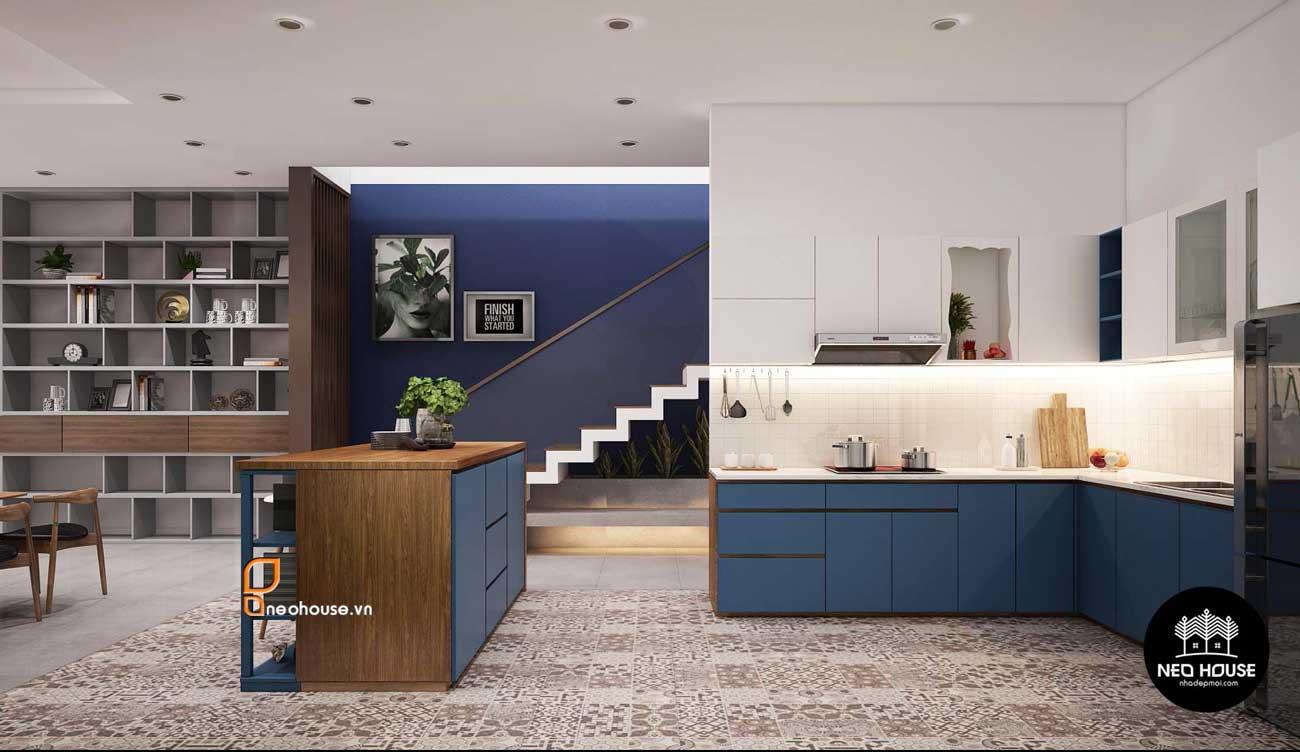Thiết kế nội thất phòng bếp nhà phố 8x14m. Ảnh 3